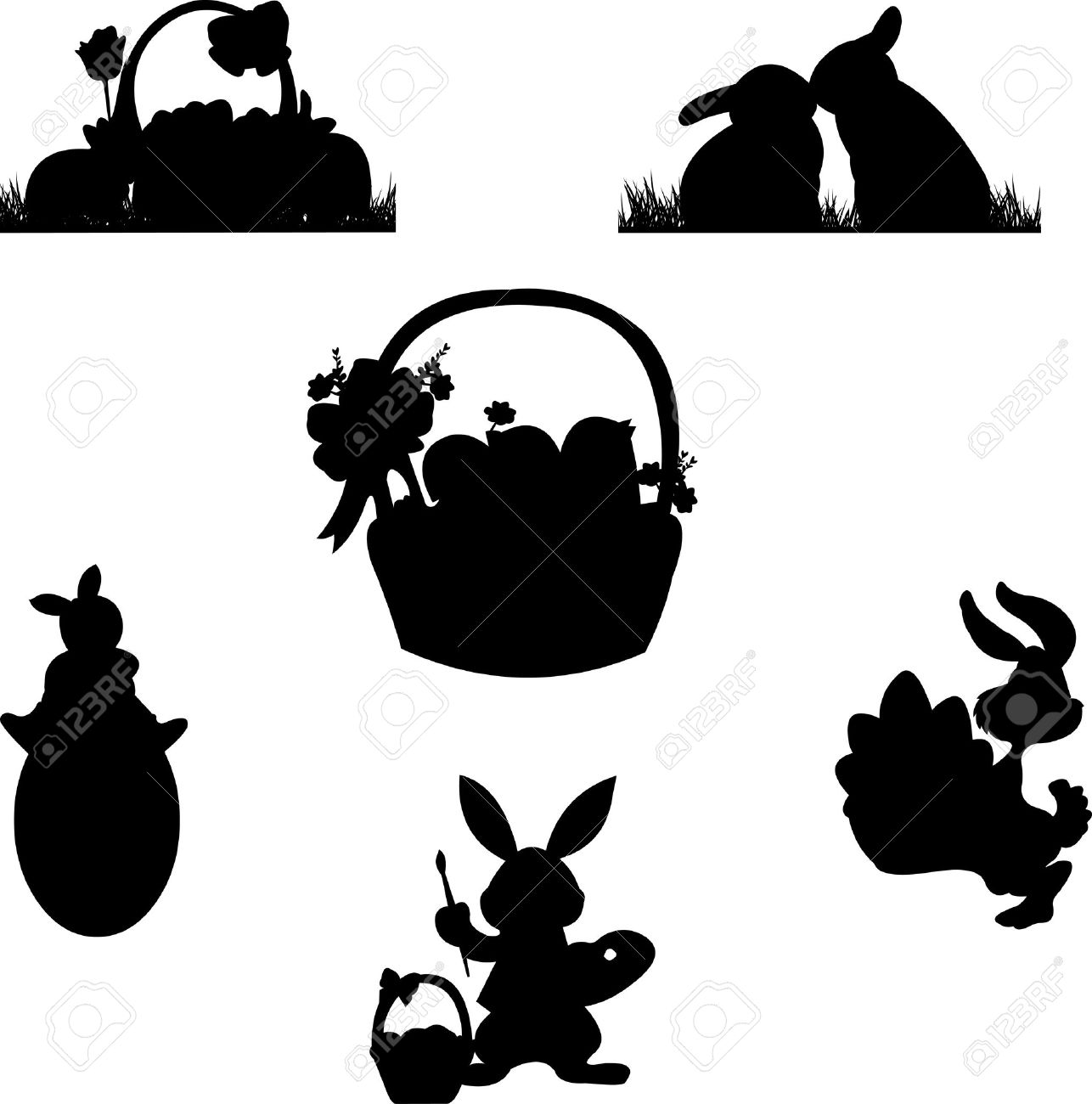 Easter basket silhouette clipart clip art freeuse Easter basket silhouette clipart - ClipartFest clip art freeuse