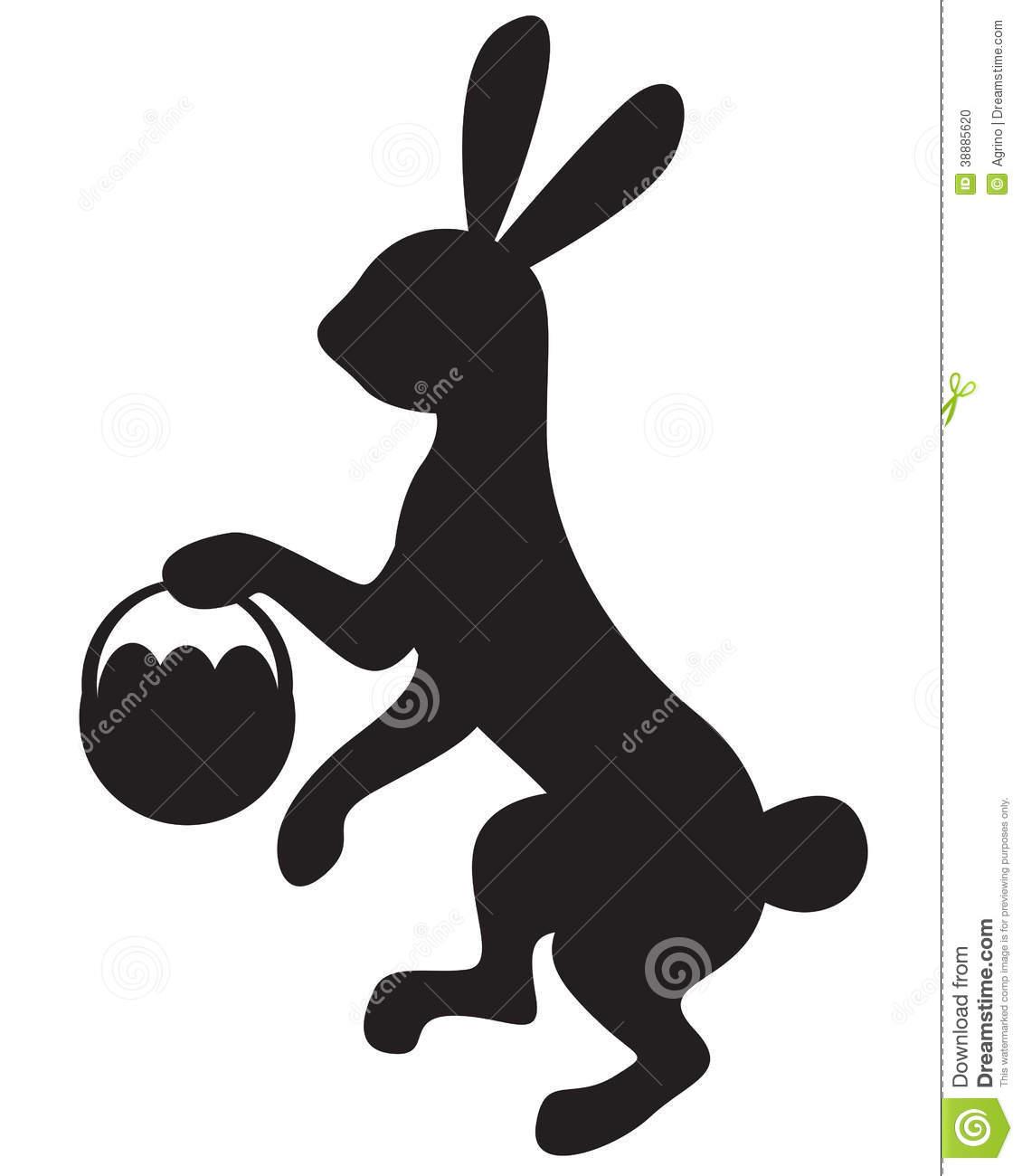 Easter basket silhouette clipart clip art freeuse stock Silhouette Easter Photo Album - Wedding Goods clip art freeuse stock