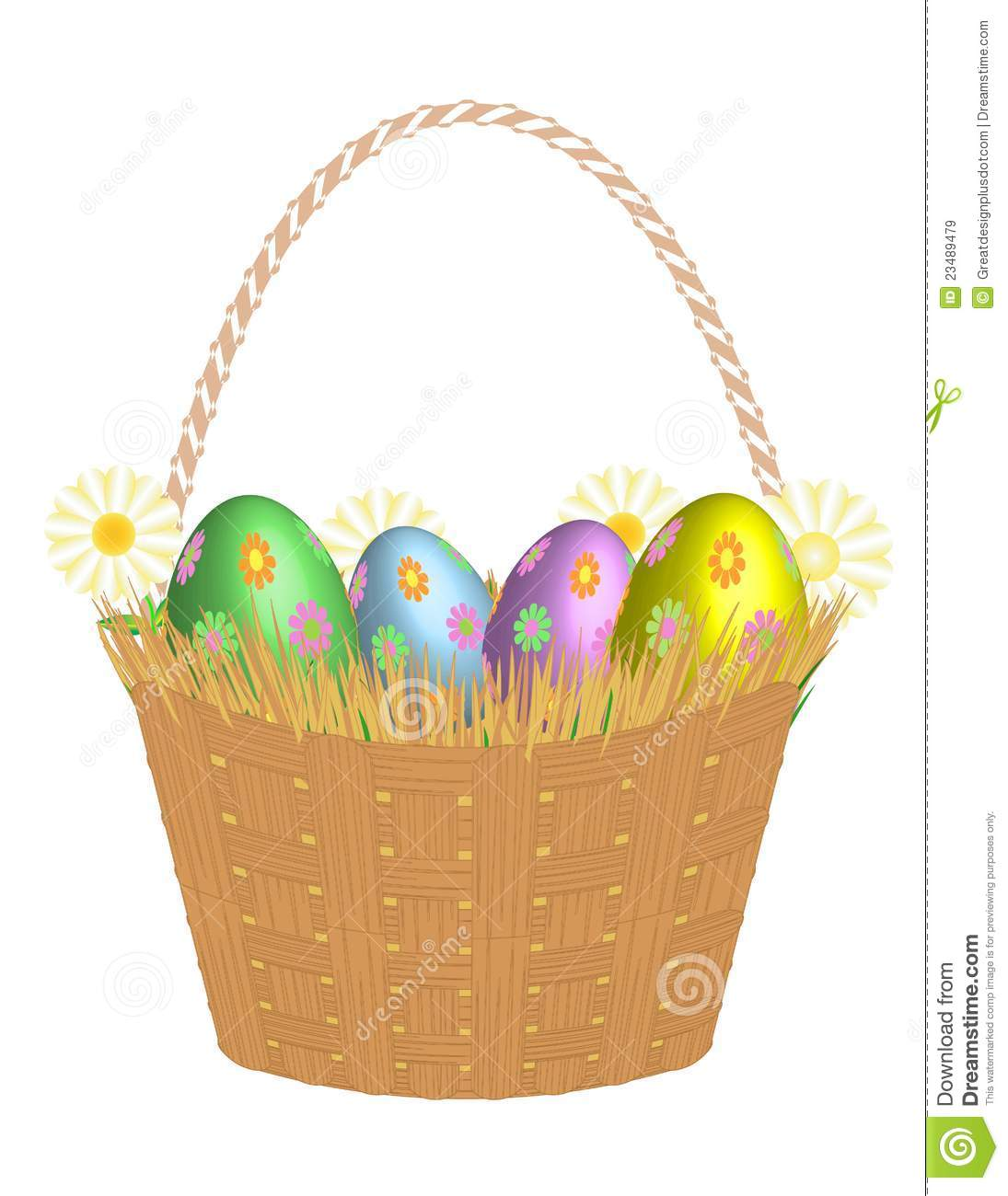 Easter basket straw clipart
