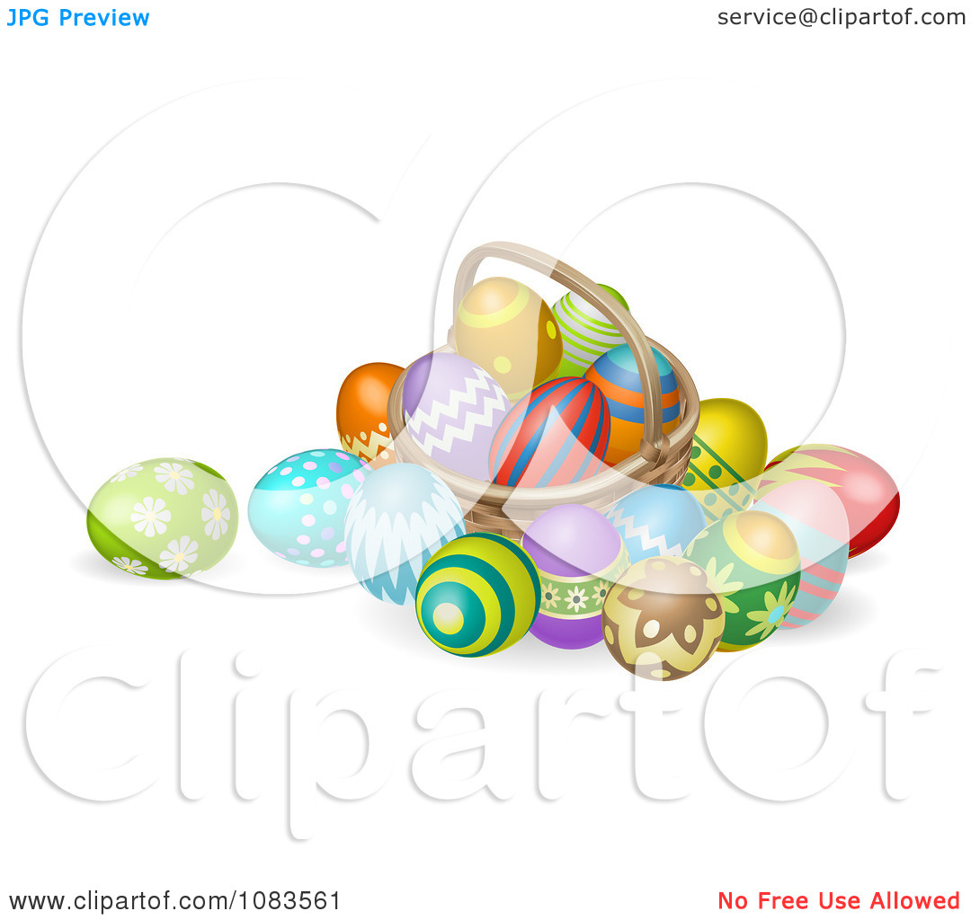 Easter basket straw clipart graphic royalty free library Clipart 3d Straw Easter Basket With Eggs - Royalty Free Vector ... graphic royalty free library