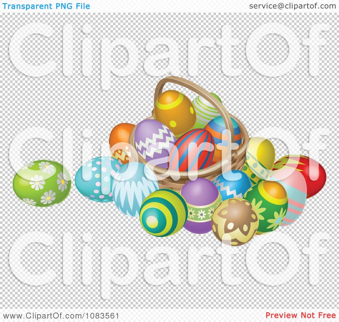 Easter basket straw clipart freeuse download Clipart 3d Straw Easter Basket With Eggs - Royalty Free Vector ... freeuse download