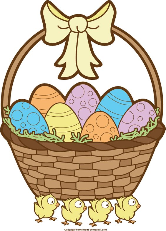Easter basket straw clipart clipart black and white download Easter Basket Clipart Black And White Images | Easter Day ... clipart black and white download