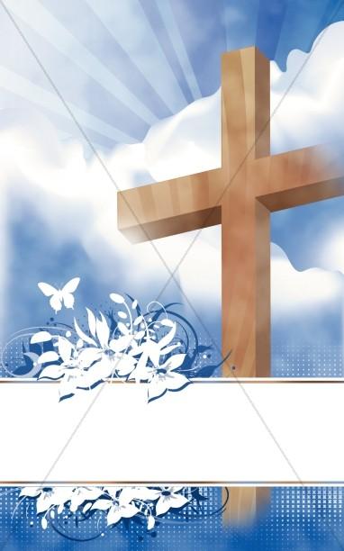 Easter bulletin covers clipart banner black and white download Easter Program Cover | Cross Bulletin Covers banner black and white download