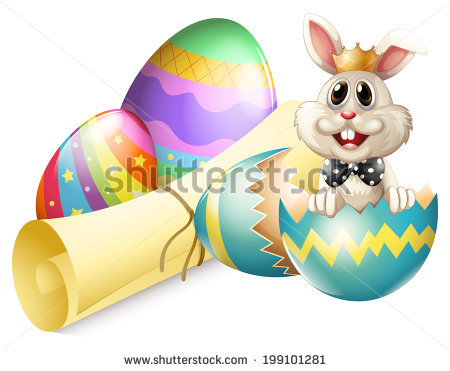 Easter bunny clipart with cracked egg clipart free library Illustration Rabbit Inside Cracked Easter Egg Stock Vector ... clipart free library