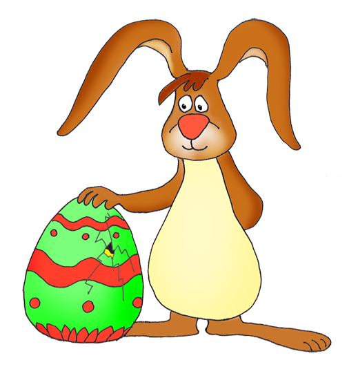 Easter bunny clipart with cracked egg jpg free library Easter bunny clipart with cracked egg - ClipartFest jpg free library