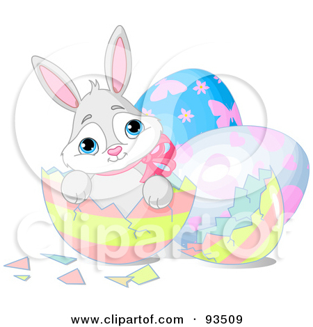 Easter bunny clipart with cracked egg banner download Royalty-Free (RF) Clipart Illustration of a Adorable Easter Bunny ... banner download