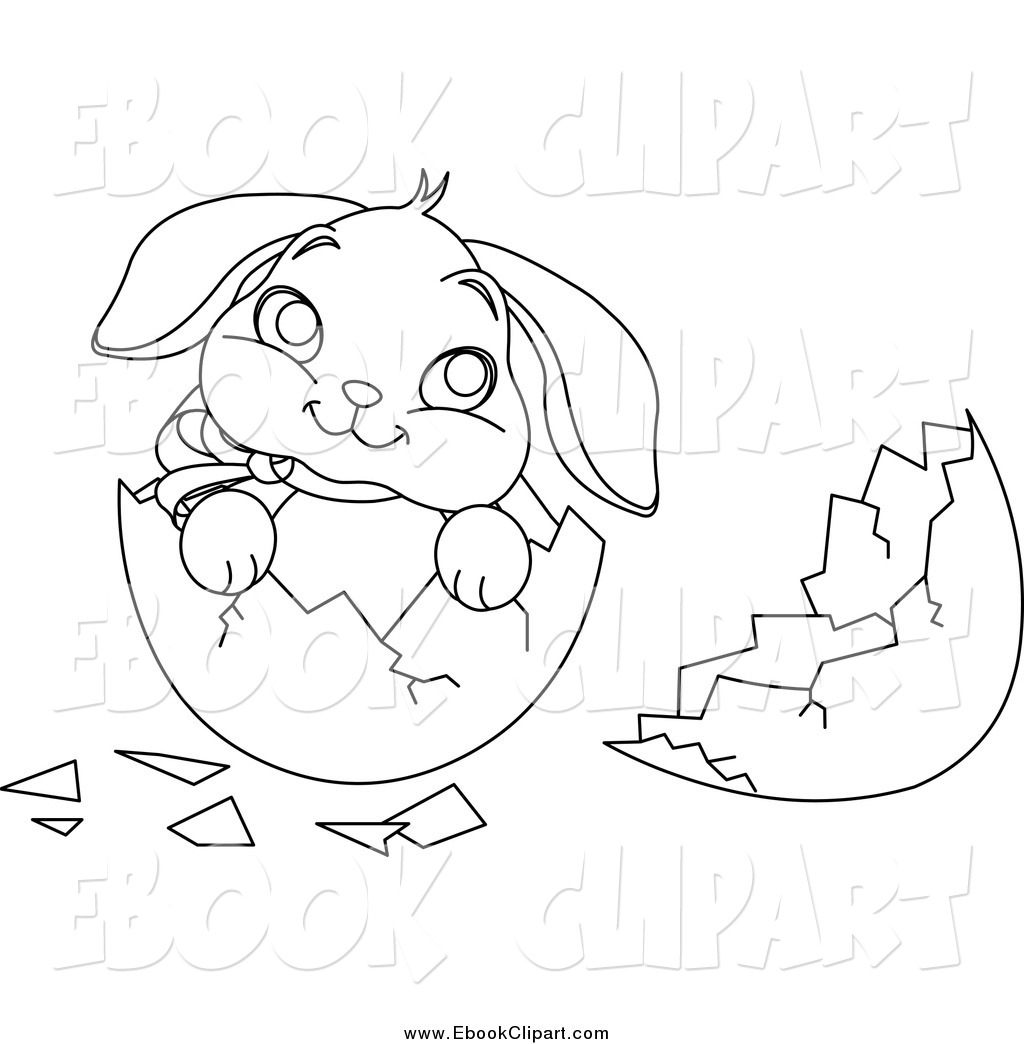 Easter bunny clipart with cracked egg royalty free Easter bunny clipart with cracked egg - ClipartFest royalty free