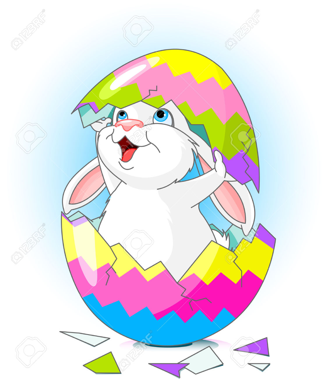 Easter bunny clipart with cracked egg graphic stock Easter bunny clipart with cracked egg - ClipartFest graphic stock