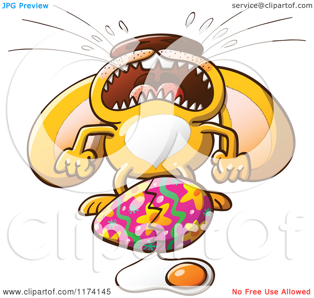 Easter bunny clipart with cracked egg svg Cartoon of an Easter Bunny Crying over a Broken Egg - Royalty Free ... svg