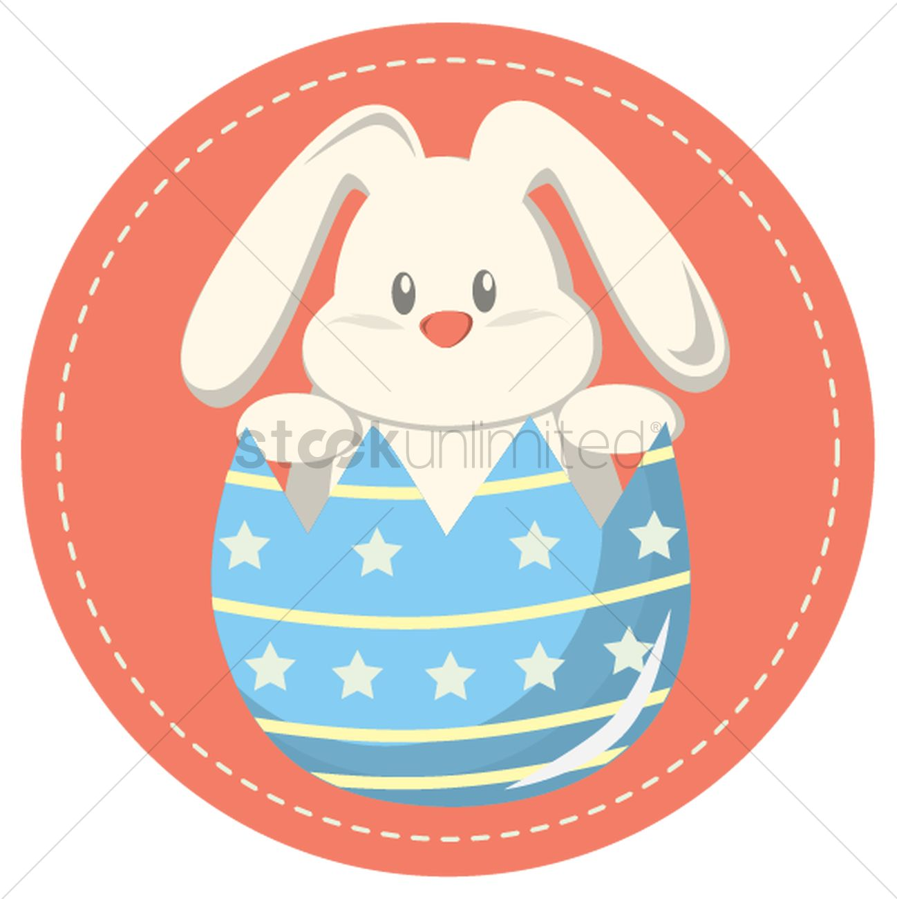 Easter bunny clipart with cracked egg image library stock Easter bunny in a cracked egg Vector Image - 1426878 | StockUnlimited image library stock