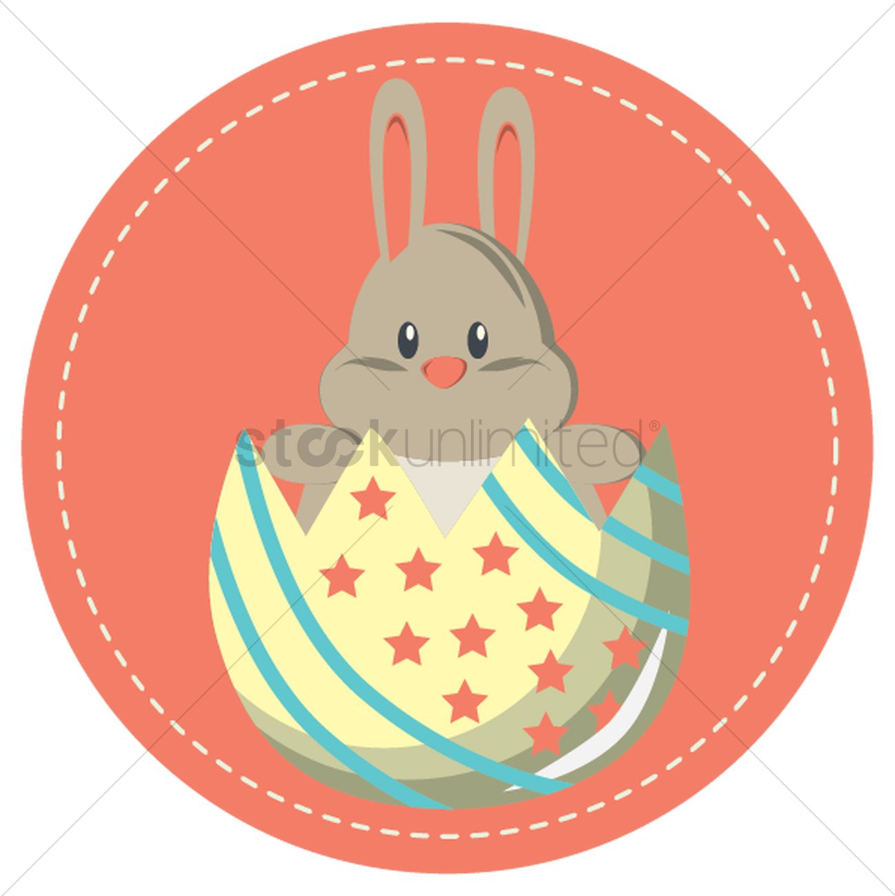 Easter bunny clipart with cracked egg banner download Easter bunny in a cracked egg Vector Image - 1426888 | StockUnlimited banner download