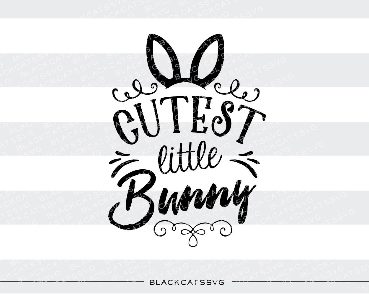 Easter bunny ears clipart black and white cricut picture freeuse Happy Easter SVG cross and bunny ears file Cutting File Clipart in ... picture freeuse