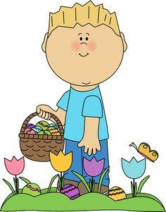 Easter bunny hunt clipart vector royalty free download Boy on Easter Egg Hunt | Clip Art-Spring | Pinterest | Boys ... vector royalty free download