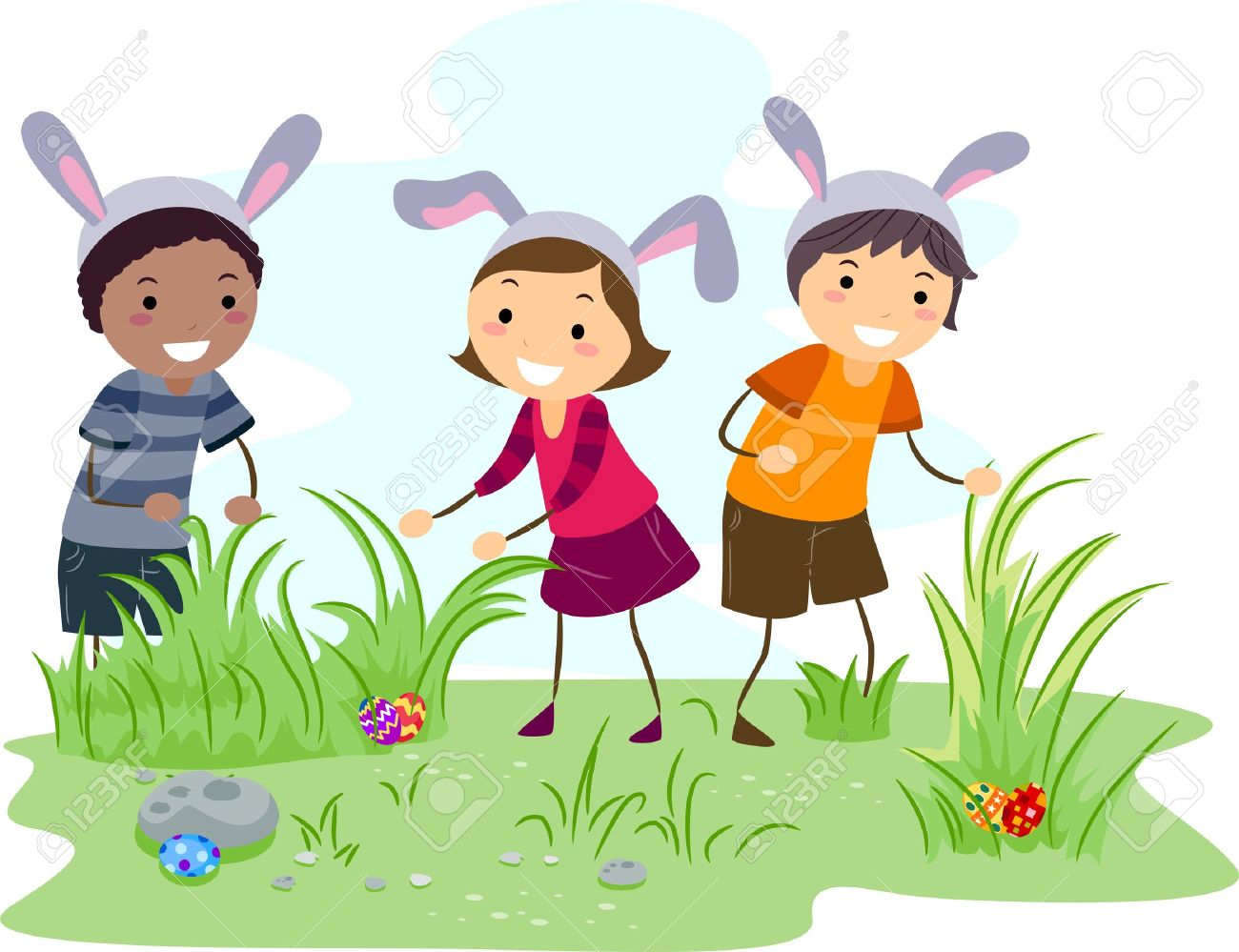Easter Bunny Hunt Clip Art – Clipart Free Download graphic free stock
