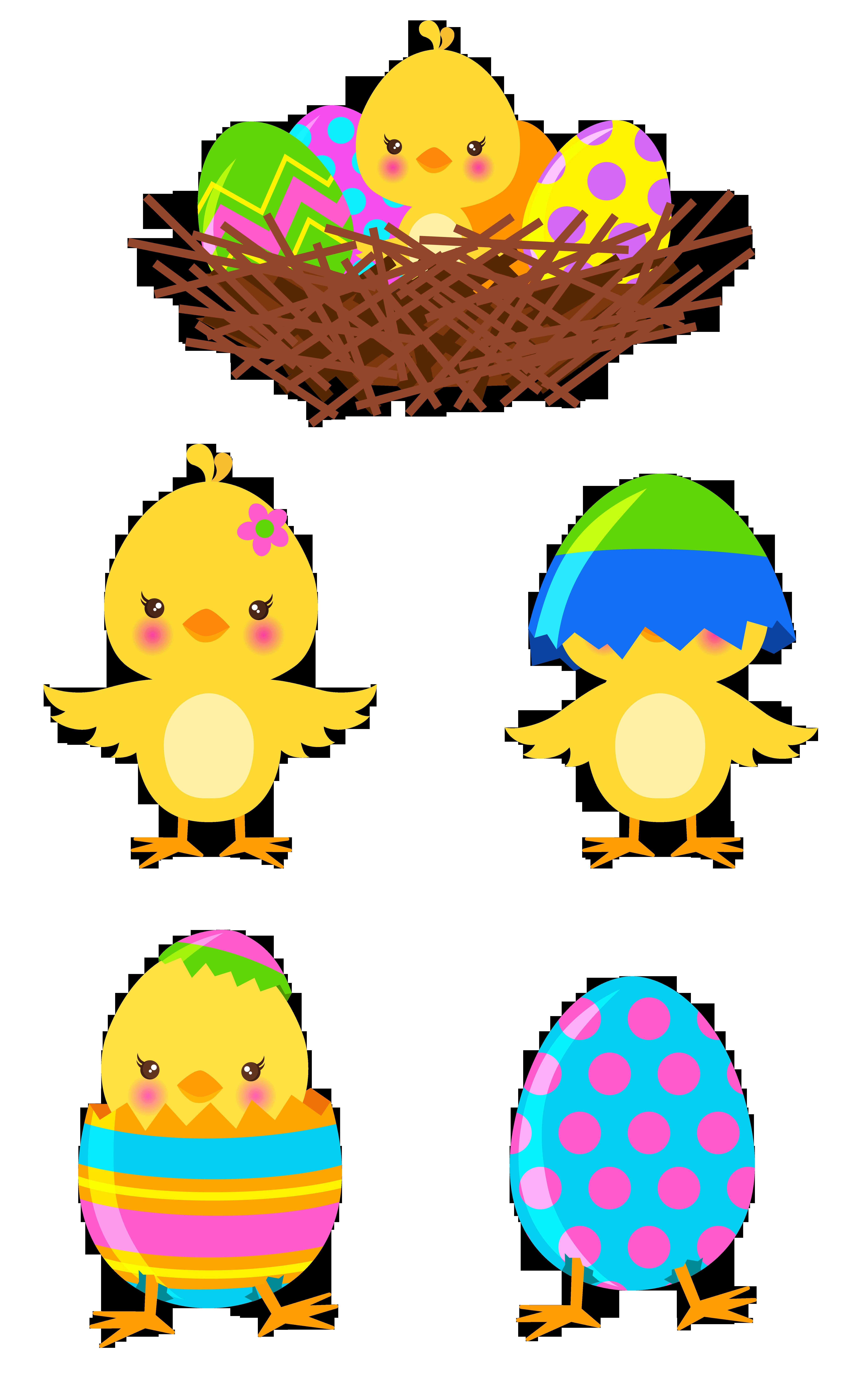 Easter chicks clipart