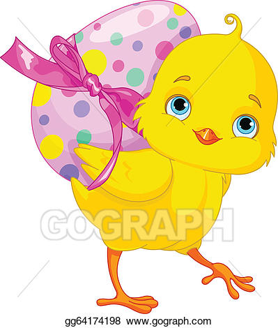 Easter chicks clipart picture library stock Vector Stock - easter chick. Clipart Illustration gg64174198 - GoGraph picture library stock