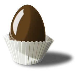 Easter chocolate clipart graphic black and white library Free Easter Egg Clipart graphic black and white library