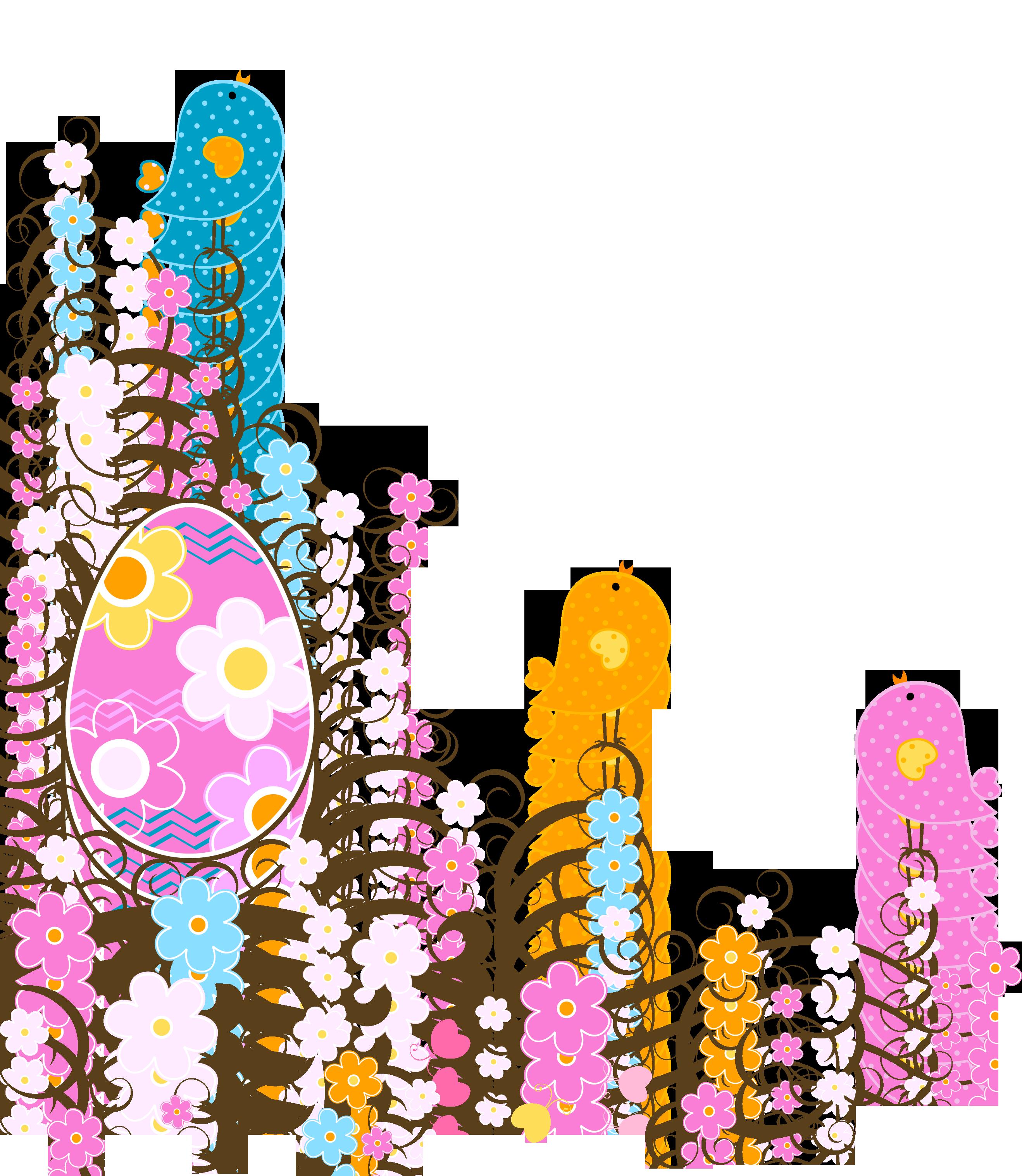 Easter clipart flower png image transparent stock Easter Decoration with Flowers PNG Transparent Clipart image transparent stock