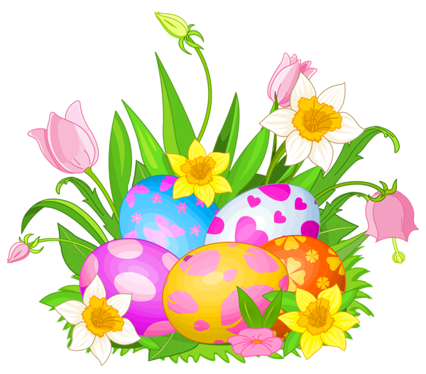 Easter flower clipart royalty free stock Easter Eggs and Flowers PNG Clipart Picture | Páscoa | Pinterest ... royalty free stock