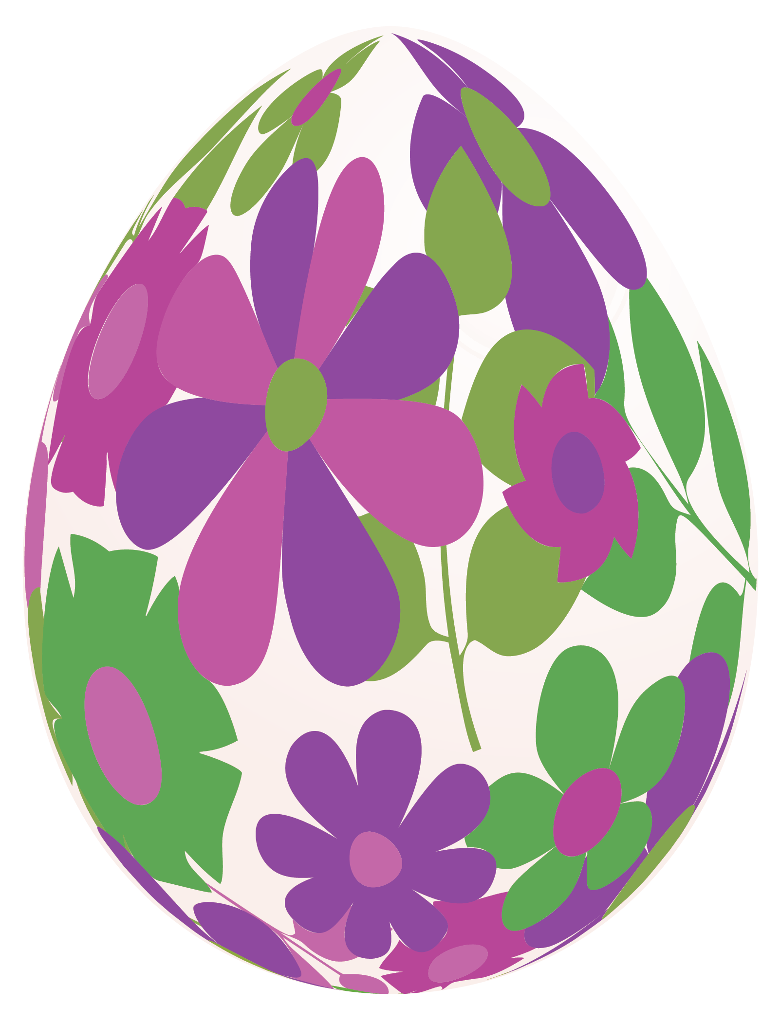 Easter clipart flower png png library download Easter White Egg with Purple Flowers PNG Clipart Picture png library download