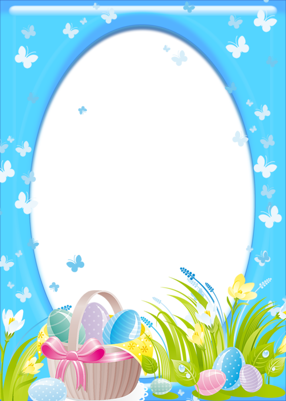 Easter clipart frames picture free download Easter Transparent PNG Frame | Gallery Yopriceville - High-Quality ... picture free download