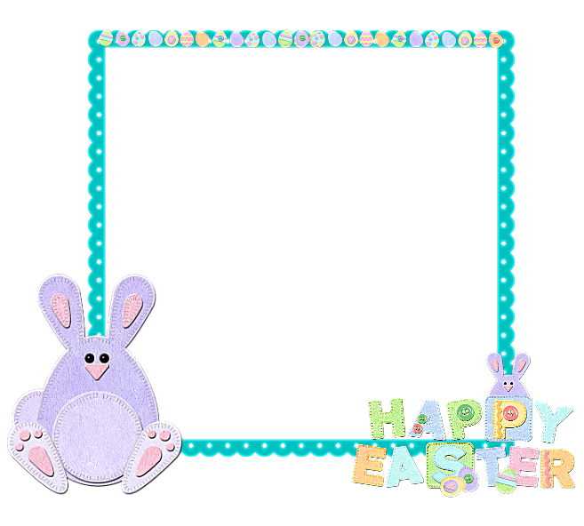Easter clipart frames graphic royalty free download Easter-Frame | Gallery Yopriceville - High-Quality Images and ... graphic royalty free download