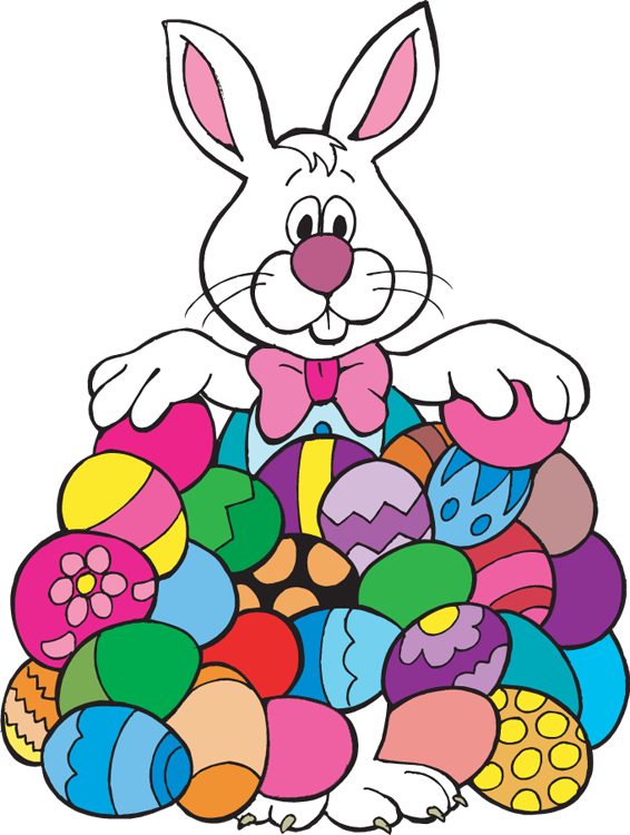 Easter cliparts animated vector black and white download Animated easter bunny clipart image #11931 vector black and white download
