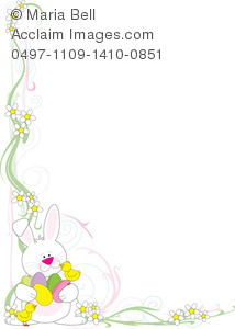 Easter corner clipart clip art freeuse Easter Background Clip Art Image of the Easter Bunny, Easter Eggs ... clip art freeuse