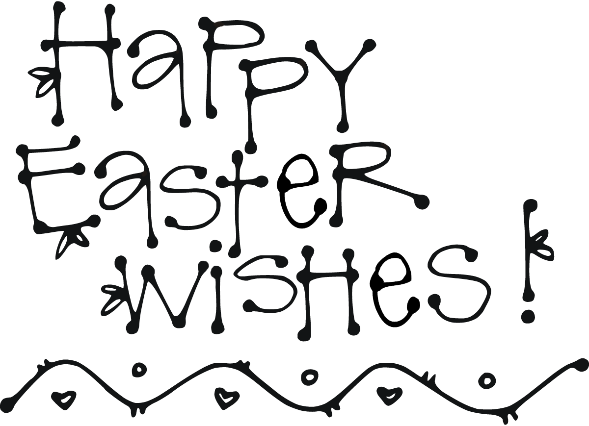 Easter cross clipart black and white image royalty free 33+ Beauty Happy Easter Clipart Black And image royalty free