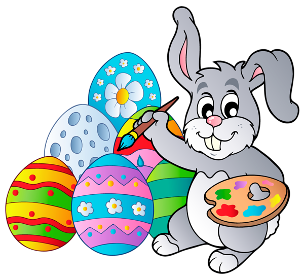 Easter egg and bunny clipart vector free library Transparent Easter Bunny with Eggs PNG Clipart Picture | Gallery ... vector free library