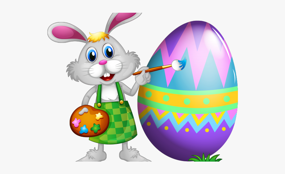 Easter egg and bunny clipart clipart royalty free Easter Bunny Painting Eggs Png #1158273 - Free Cliparts on ClipartWiki clipart royalty free