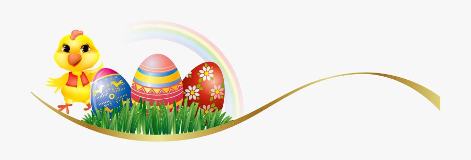 Easter egg banner clipart image black and white stock Easter Chicken And Easter Eggs Banner Clip Art - Easter Eggs Banner ... image black and white stock