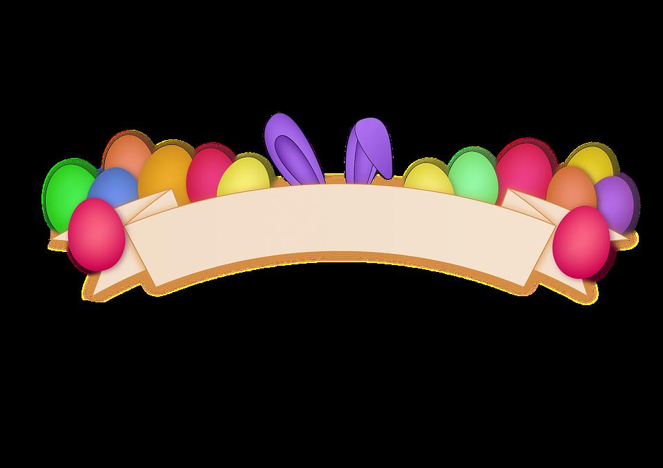 Easter egg banner clipart jpg free stock Easter Egg Banner Rabbit Png jpg free stock