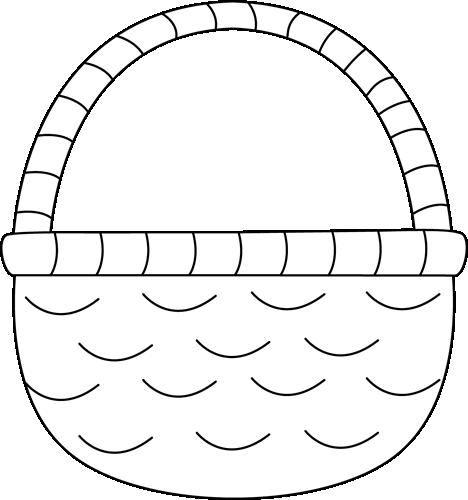 Easter egg basket black and white clipart black and white download Empty Basket Black Clipart - Clipart Kid black and white download