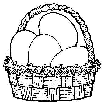 Easter egg basket black and white clipart vector library library Empty Basket Black Clipart - Clipart Kid vector library library