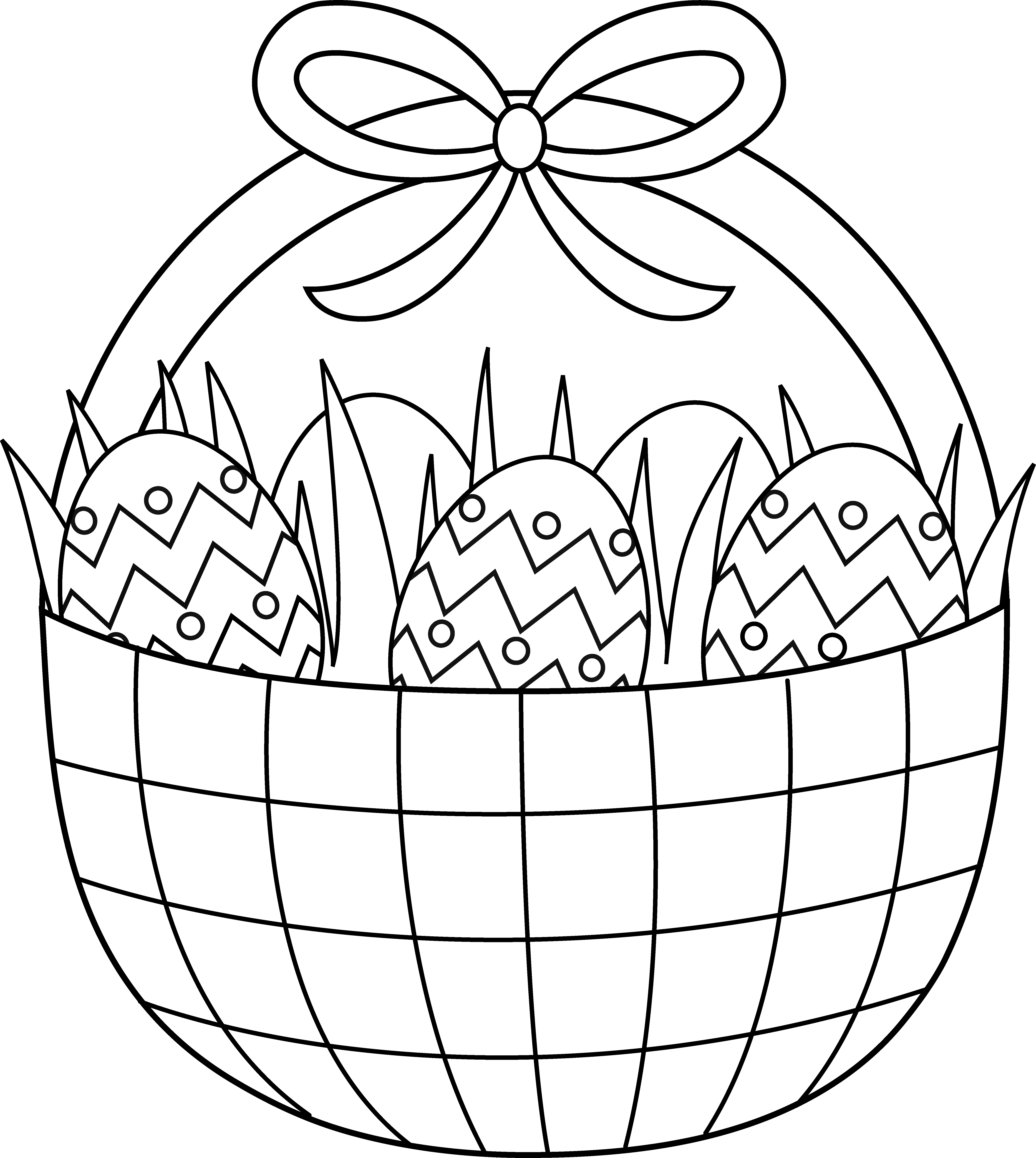 Easter Basket Coloring Page - Free Clip Art graphic royalty free stock