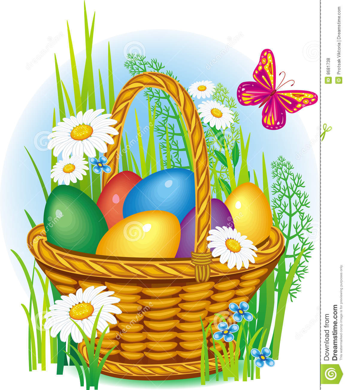 Easter egg basket clip art banner freeuse stock easter baskets with eggs - Google Search | cards with baskets and ... banner freeuse stock