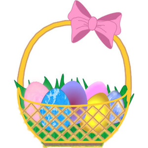Easter egg basket clip art vector transparent stock Easter basket clipart - ClipartFest vector transparent stock