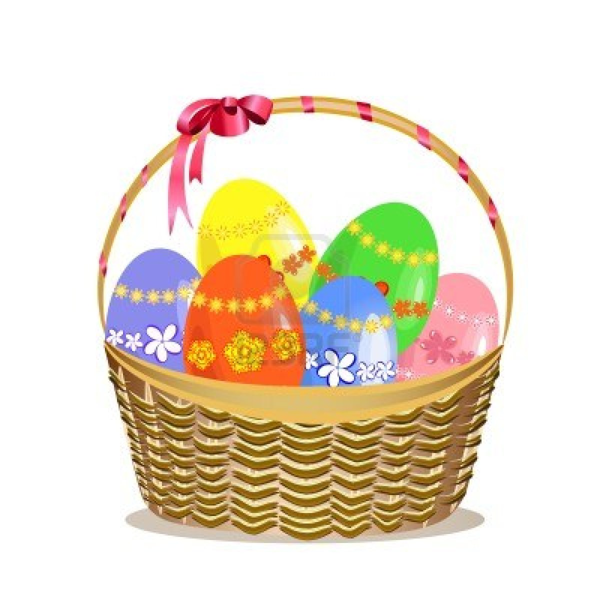 Easter egg basket clip art png freeuse library Easter Basket Clipart - Clipart Kid png freeuse library