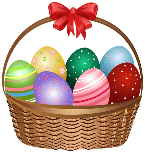 Easter egg basket clip art picture royalty free library Easter Basket Clip Art Image | Easter clip | Pinterest | Baskets ... picture royalty free library