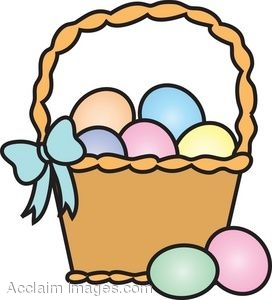 Easter egg basket clip art graphic library Egg basket clipart - ClipartFest graphic library