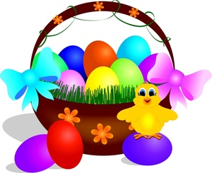 Easter egg basket clipart image free library Easter Egg Basket Clip Art to Color – Clipart Free Download image free library