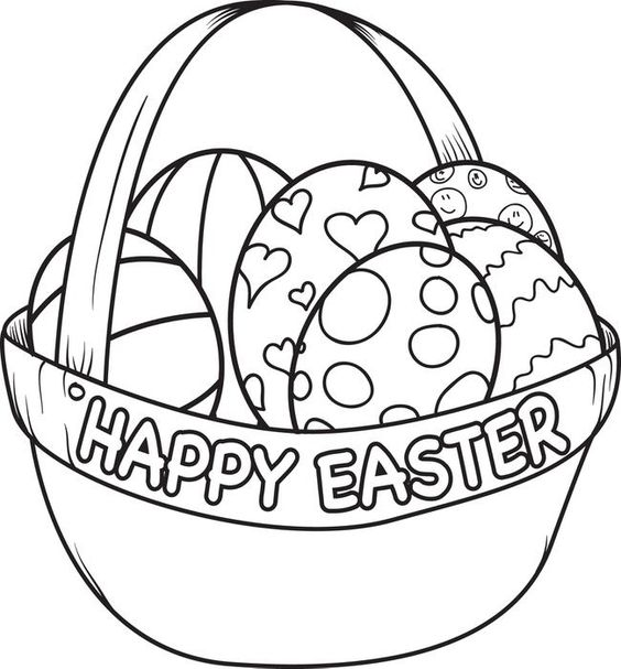 Easter Egg Clipart Images | Coloring Pages | Pinterest | Easter ... jpg black and white library