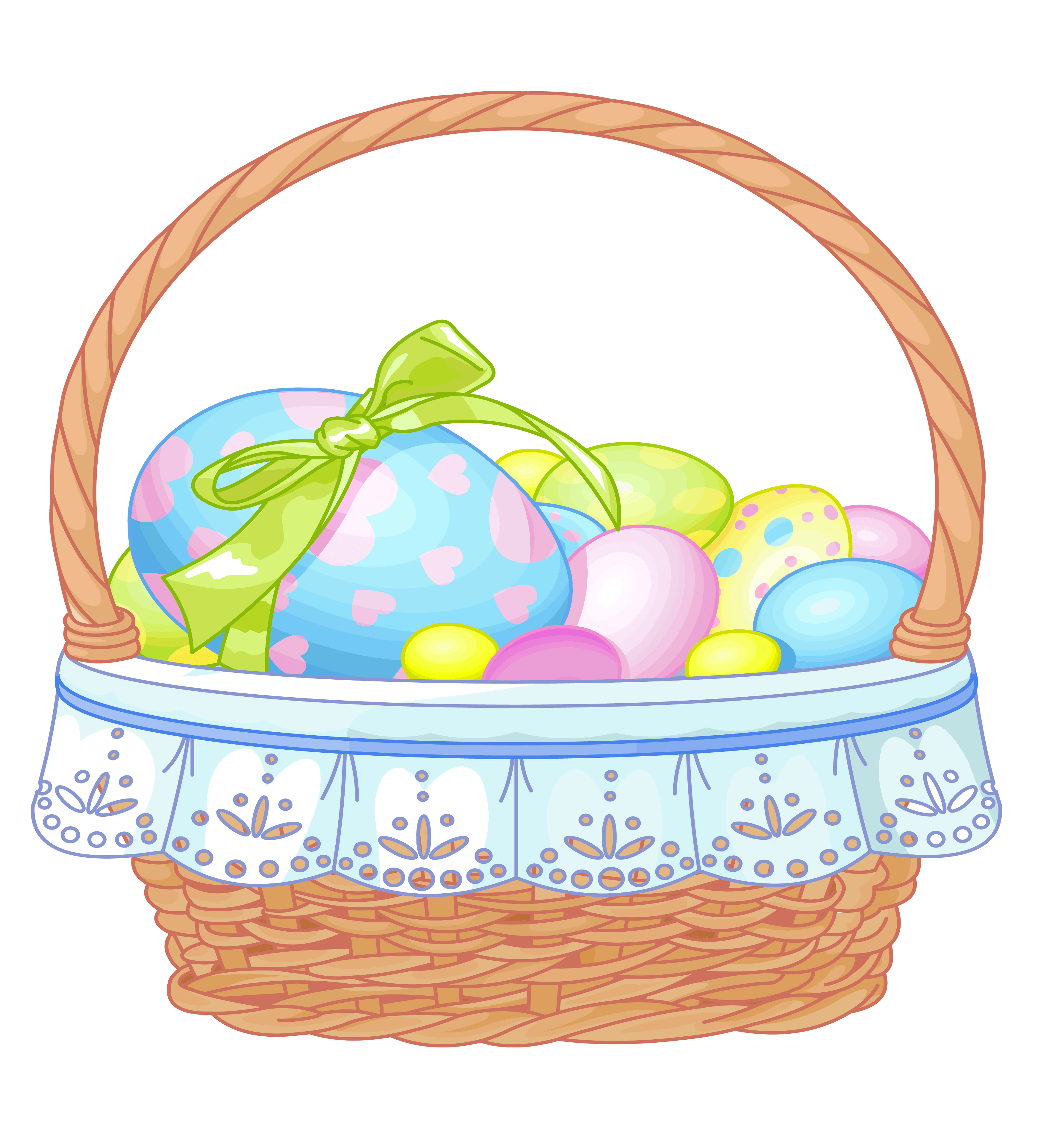 Easter Egg Basket Clip Art – Merry Christmas And Happy New Year 2018 svg download
