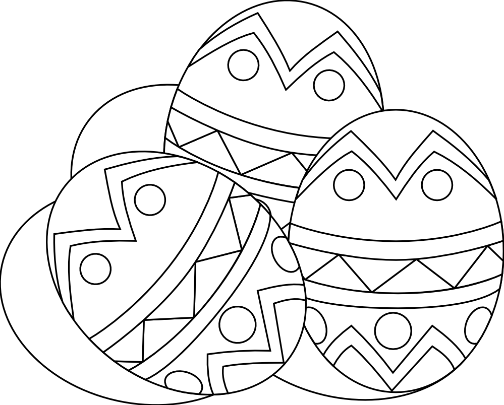 Easter Black And White Clipart - Clipart Kid image library library