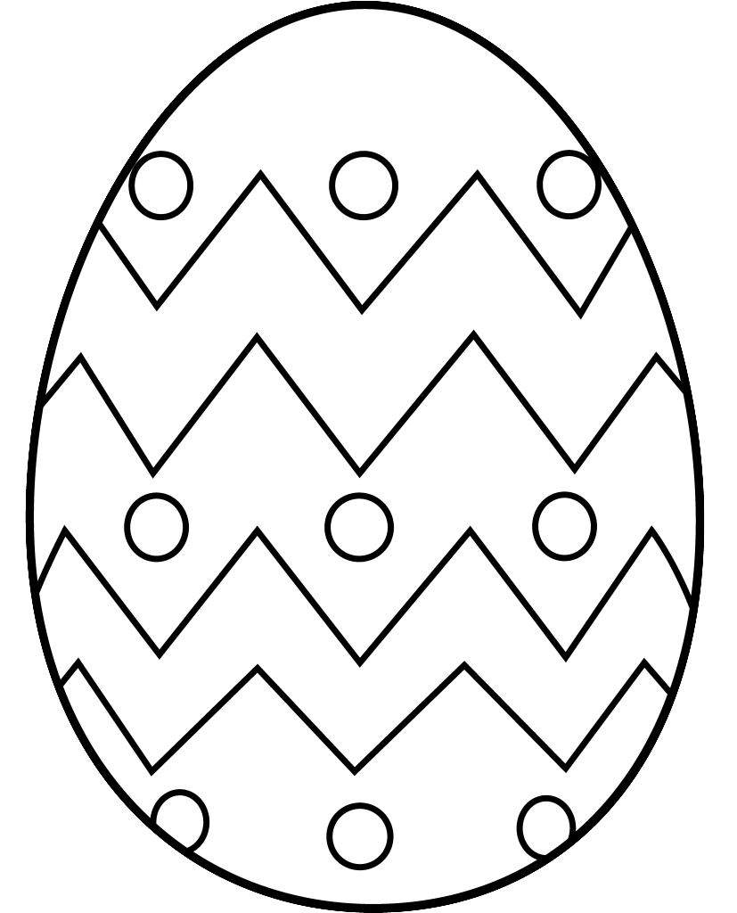 Easter egg hunt bw clipart freeuse download Easter eggs black and white clipart - ClipartFest freeuse download