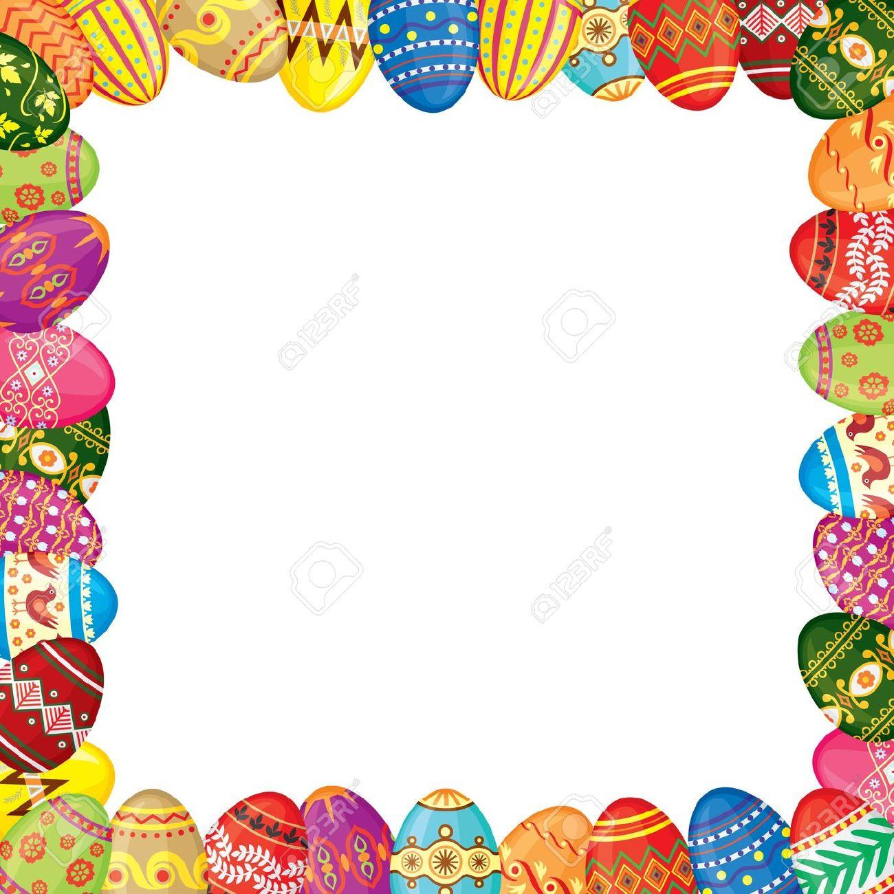 Easter egg border clip art picture freeuse stock Easter frame clip art - ClipartFest picture freeuse stock