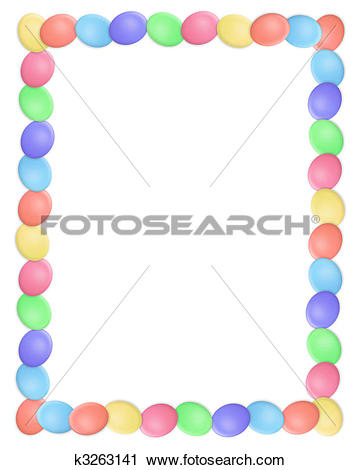 Easter egg border clip art picture black and white stock Clipart of Easter Egg Border k7524980 - Search Clip Art ... picture black and white stock