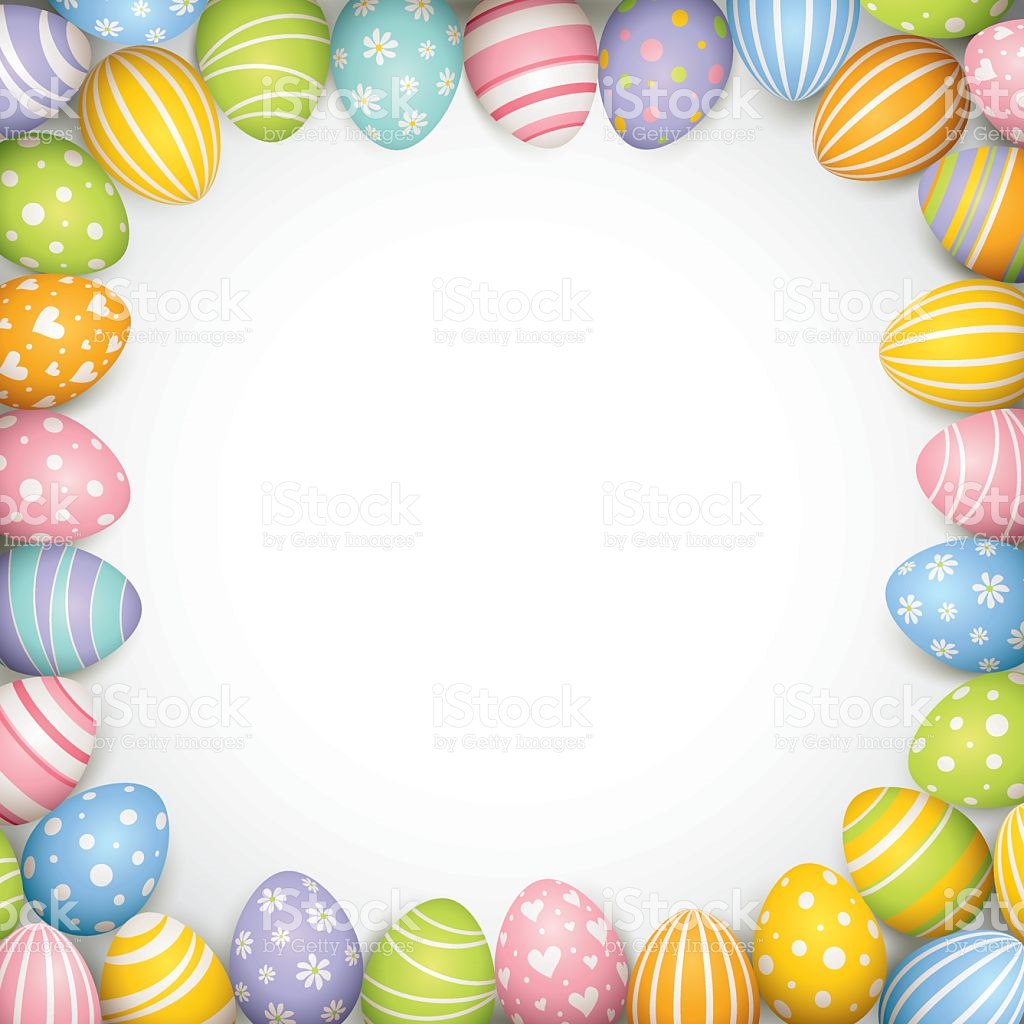Easter egg border clipart svg royalty free stock Easter Egg Border stock vector art 534476841 | iStock svg royalty free stock