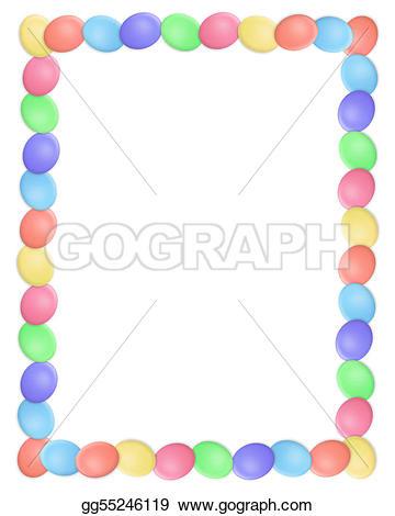 Easter egg border clipart svg library download Stock Illustration - Easter border eggs simple. Clipart gg55246119 ... svg library download